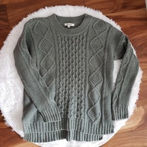 Madewell Sweater Size Small Classic Cable Knit
